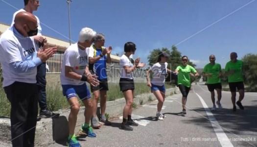 """Sport e solidarietà: tappa catanzarese della staffetta della speranza """"Run4hope"""""""