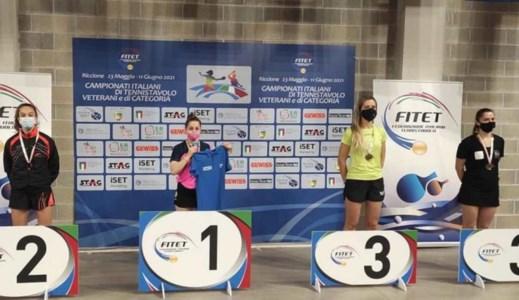 Tennistavolo, la vibonese Miriam Carnovale sul podio nazionale