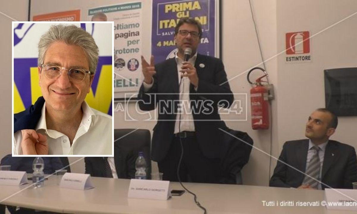 Il ministro allo Sviluppo Economico Giancarlo Giorgetti, nel riquadro Giancarlo Cerrelli