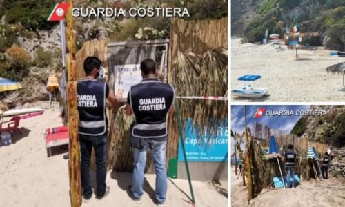 Sequestrata baracca abusiva sulla spiaggia di Ricadi: denunciato il proprietario