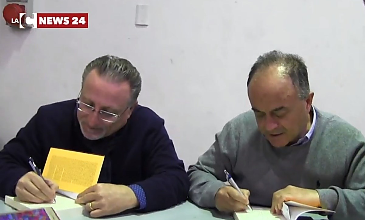 Il giornalista Nicaso e il procuratore Gratteri in un passato incontro culturale