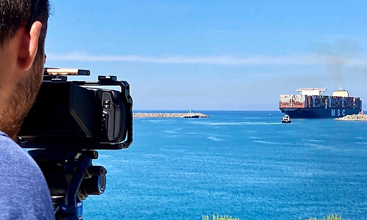 le riprese del corto sul Porto di Gioia Tauro