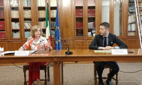 Il prefetto Maria Teresa Cucinotta e il presidente della Camera di Commerci di Catanzaro Daniele Rossi