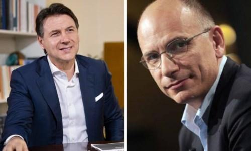 Giuseppe Conte ed Enrico Letta