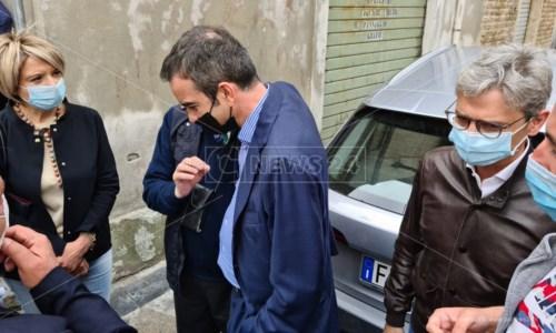 Roberto Occhiuto a Vibo con il sindaco Maria Limardo e il coordinatore regionale di Fi Giuseppe Mangialavori