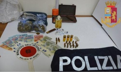 Cocaina e marijuana in casa: 23enne arrestato nel Vibonese