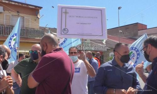 Crotone, sicurezza sul lavoro: sit in di protesta dei sindacati di polizia Siulp e Cisl