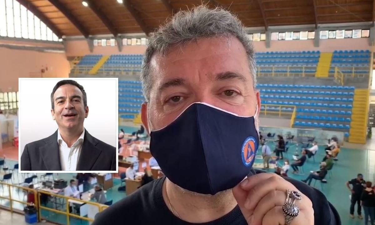 Nino Spirlì, nel riquadro Roberto Occhiuto