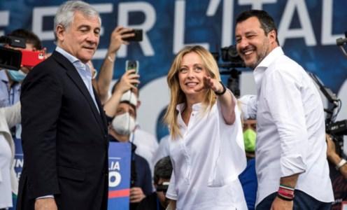 I leader del centro-destra: Tajani (Fi), Meloni (Fdi) e Salvini (Lega) in uno scatto ansa