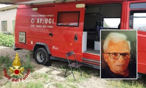Anziano scomparso nel Crotonese, il prefetto: «Ancora nessuna traccia»