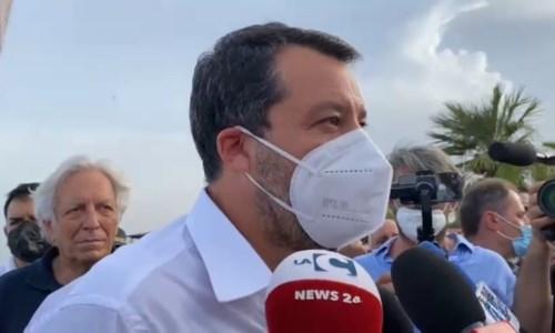 Regionali, Salvini nella Locride: «Lega ha lavorato bene con Spirlì, i cittadini ci daranno fiducia»