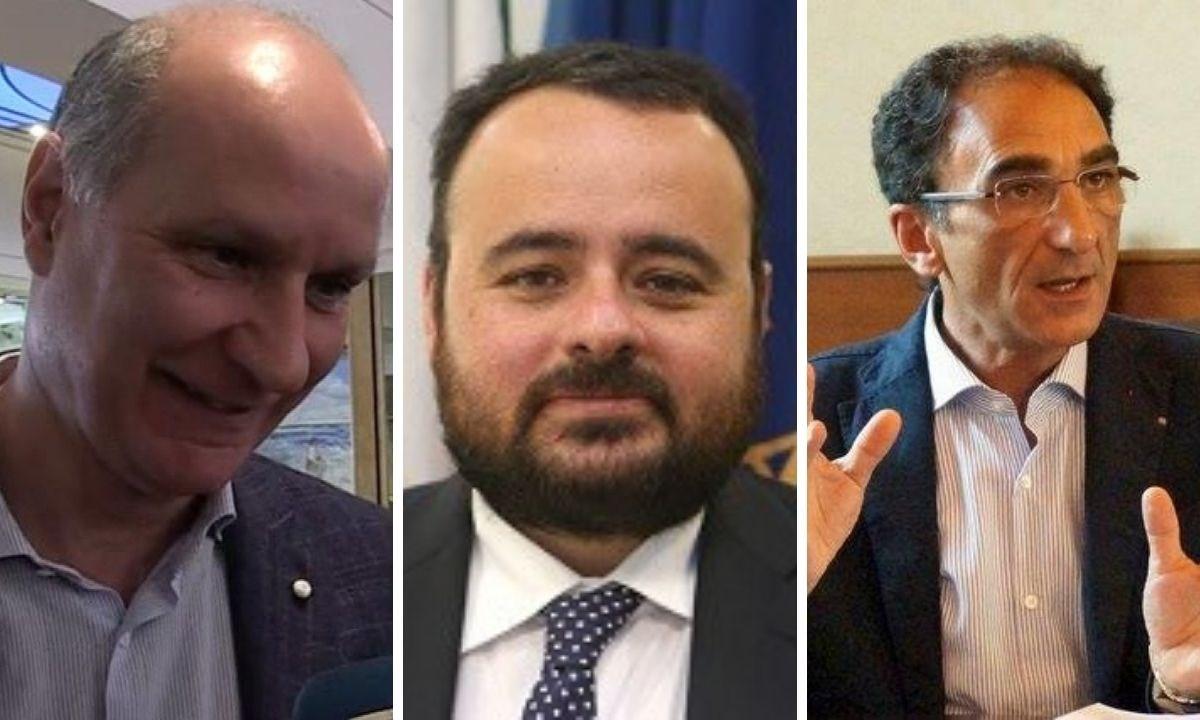 Michele Comito, Vito Pitaro e Sergio Abramo