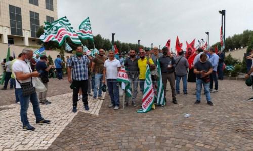La protesta dei forestali alla Cittadella