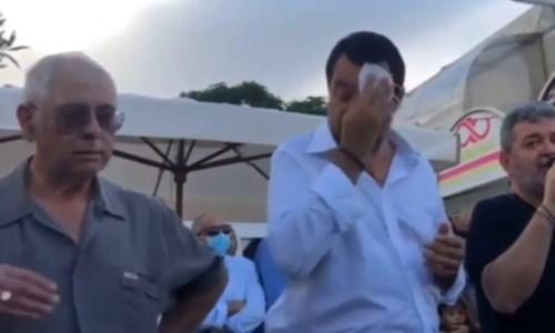 Salvini a Siderno sul palco con Spirlì