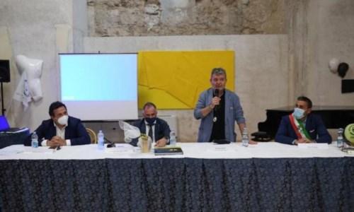 L'assessore Fausto Orsomarso, Il ministro Massimo Garavaglia, il presidente ff Nino Spirlì e il sindaco di Tropea Giovanni Macrì
