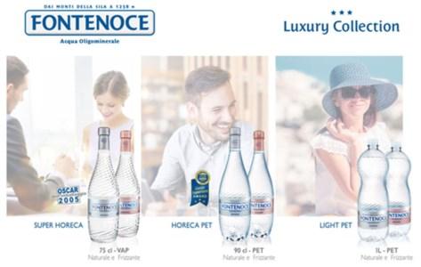 Acqua Fontenoce presenta la nuova linea Horeca