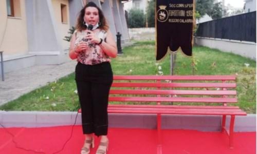 L'assessora allo SportGiuggi Palmenta durante l'inaugurazione