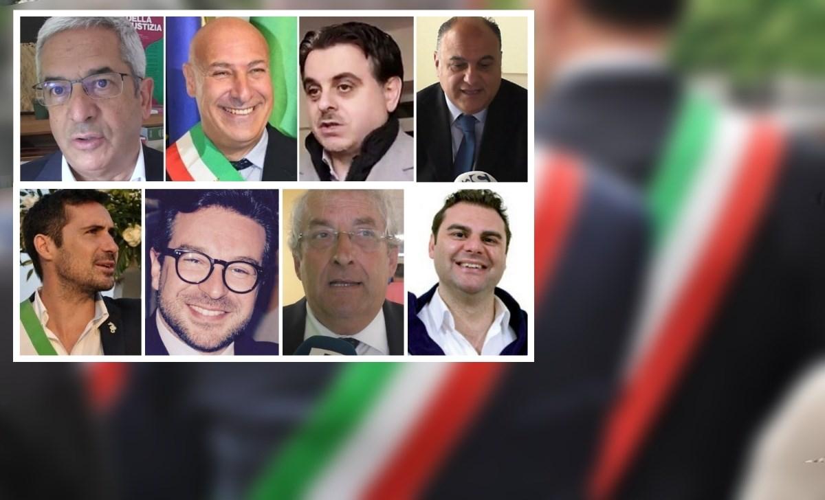I sindaci di Rende, Crotone, Sellia, Locri, Soverato, San Vincenzo, Diamante e Mendicino