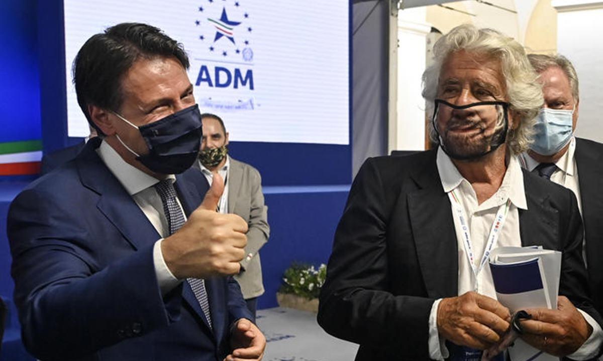 M5s, Giuseppe Conte e Beppe Grillo