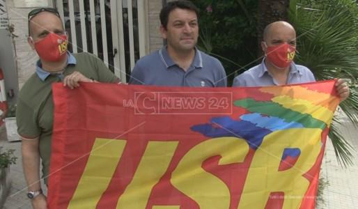 La delegazione del sindacato Usb dei vigili del fuoco