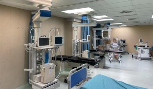 Gli spazi che saranno adibiti per la nuova terapia intensiva