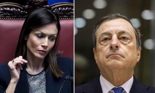Mara Carfagna e Mario Draghi