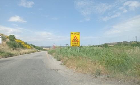L'inizio della strada in prossimità dello svincolo di Tarsia Sud