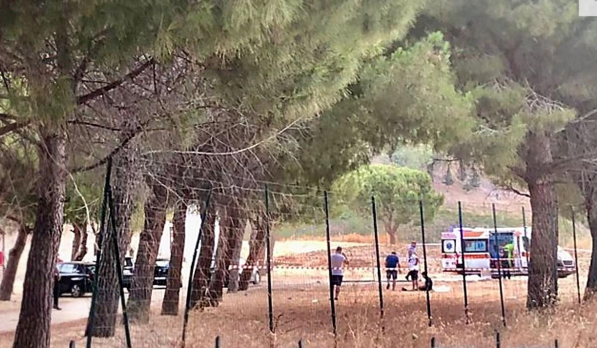 Il luogo dell'incidente, foto ansa