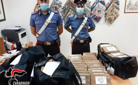 Cocaina per 7 milioni di euro in borsoni da palestra: arrestato camionista sull'A2