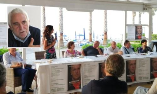 Oliverio a Corigliano per la presentazione del suo libro. Nel riquadro, Enzo Ciconte