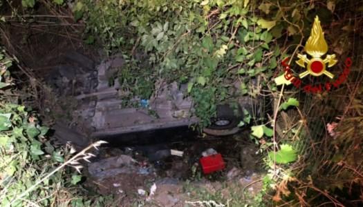 Incidente tra San Pietro Lametino e Maida, auto finisce in una scarpata: due feriti