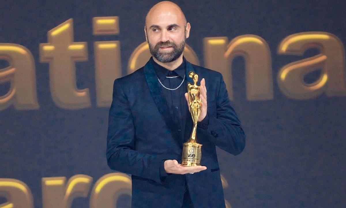 Giuseppe Fata durante la premiazione