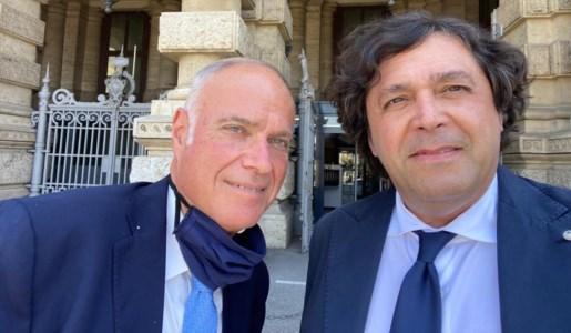 L'ex magistrato, Marco Petrini, e l'avvocato Francesco Calderaro
