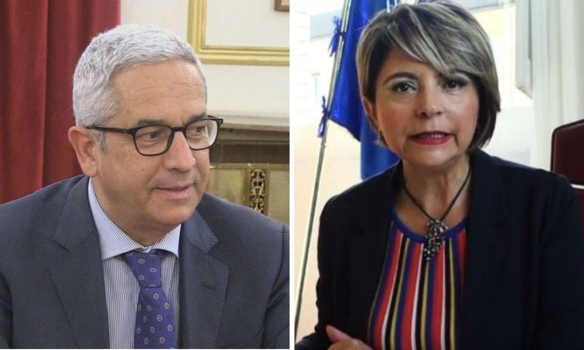 A sinistra Marcello Manna, a destra Maria Limardo