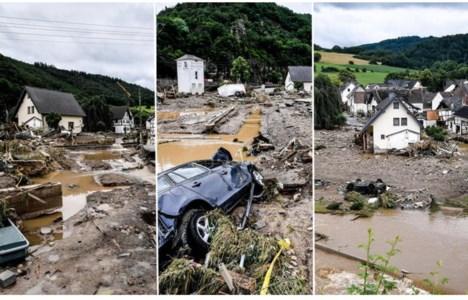 Alcune immagini dei disastri provocati dalle piogge in Germania (foto Ansa)