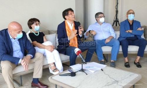 Uno scatto della conferenza stampa