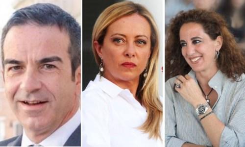 Roberto Occhiuto - Giorgia Meloni - Wanda Ferro
