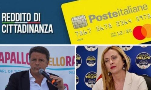 Reddito di cittadinanza, l'asse Renzi-Meloni per abolirlo e i numeri in Calabria