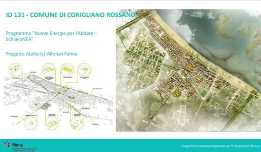 Uno dei progetti presentati dal comune di Corigliano-Rossano ammessi a finanziamento