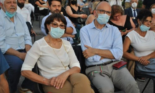 Amalia Bruni ed Enrico Letta
