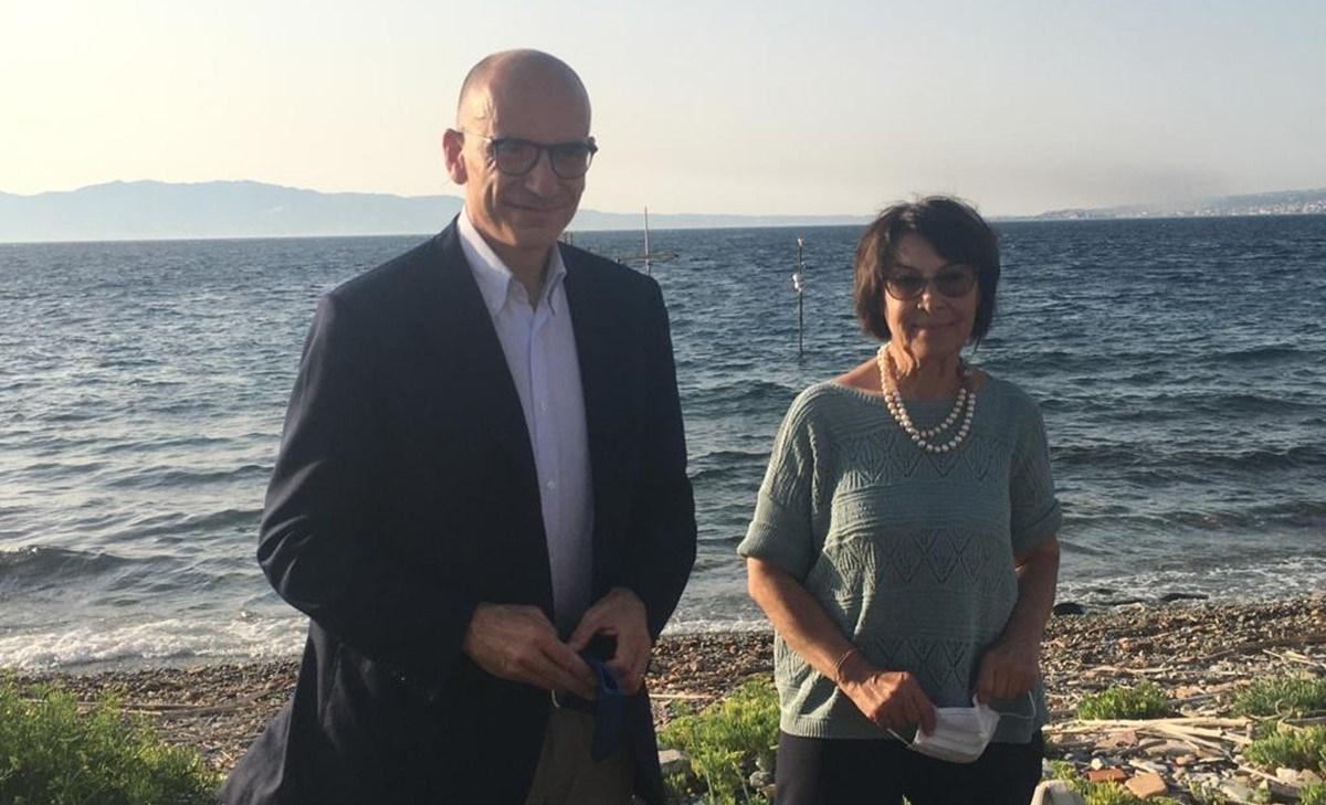 Enrico Letta e Amalia Bruni