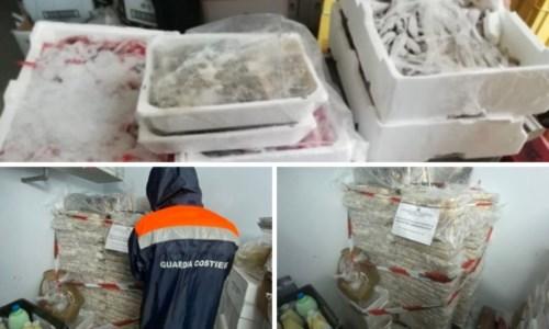 MaxisequestroCorigliano Rossano, una tonnellata di pesce avariato nel frigo di un lido: sanzionato il titolare