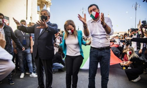 Tajani, Meloni e Salvini