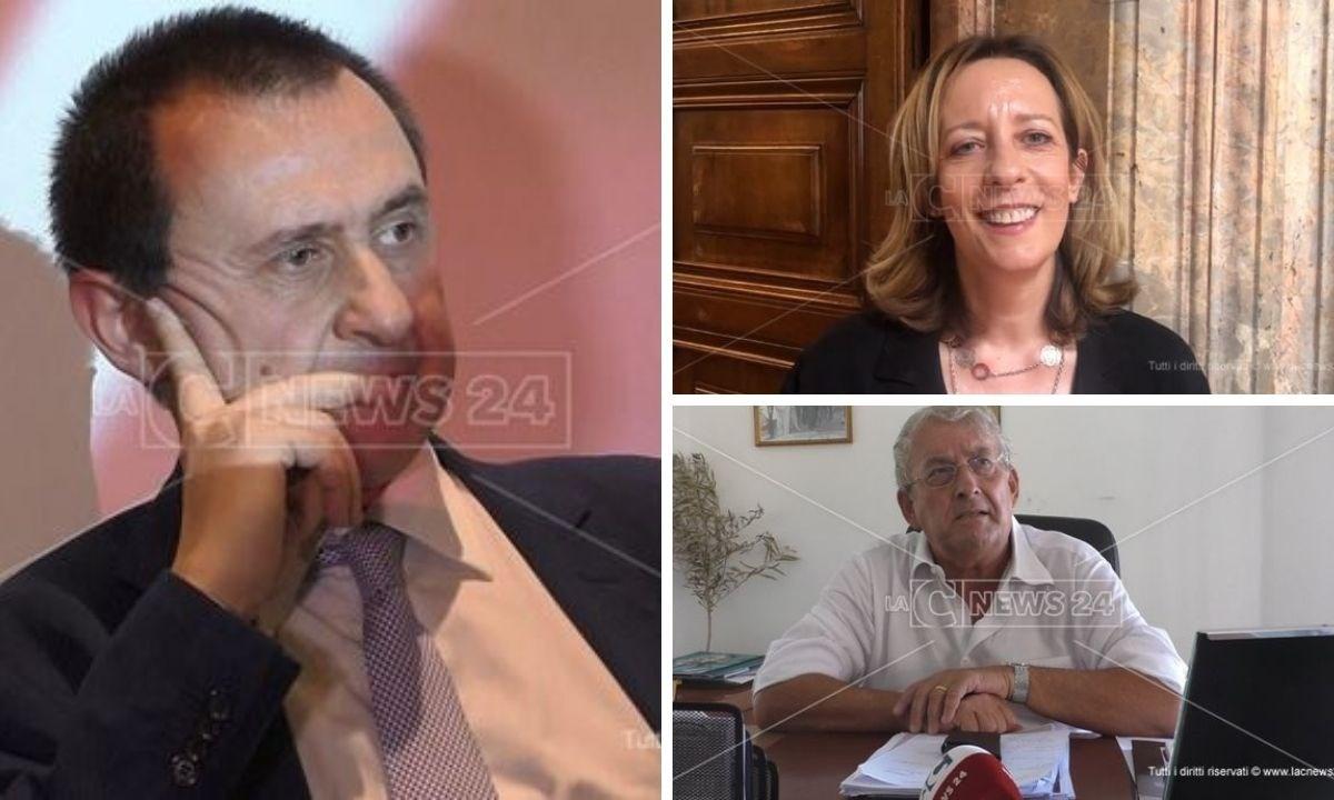 Ettore Rosato, Ernesto Magorno e Silvia Vono