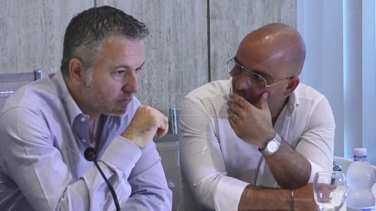 Il segretario nazionale dell'Ugl, Stefano Conti, e il segretario regionale, Pierpaolo Pisano