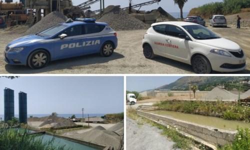 San Lucido, sversavano senza autorizzazione liquami in mare: sequestrato impianto lavorazione inerti