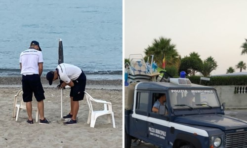 Estate Calabria, 80mila metri quadri del litorale tirrenico reggino sgomberati da attrezzature abusive