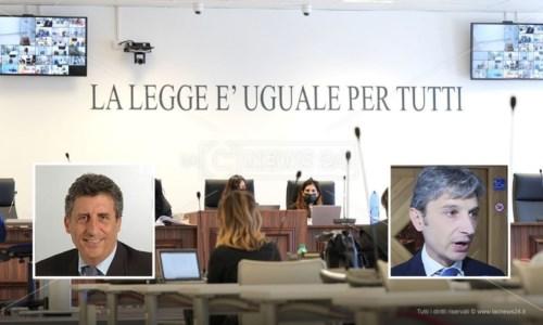 Nei riquadri i senatori Francesco Bevilacqua e Giuseppe Mangialavori