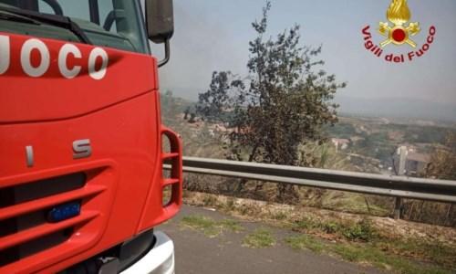 L'emergenzaIncendi Calabria, 20 roghi nella provincia di Vibo: fiamme vicino al parco archeologico di Mileto