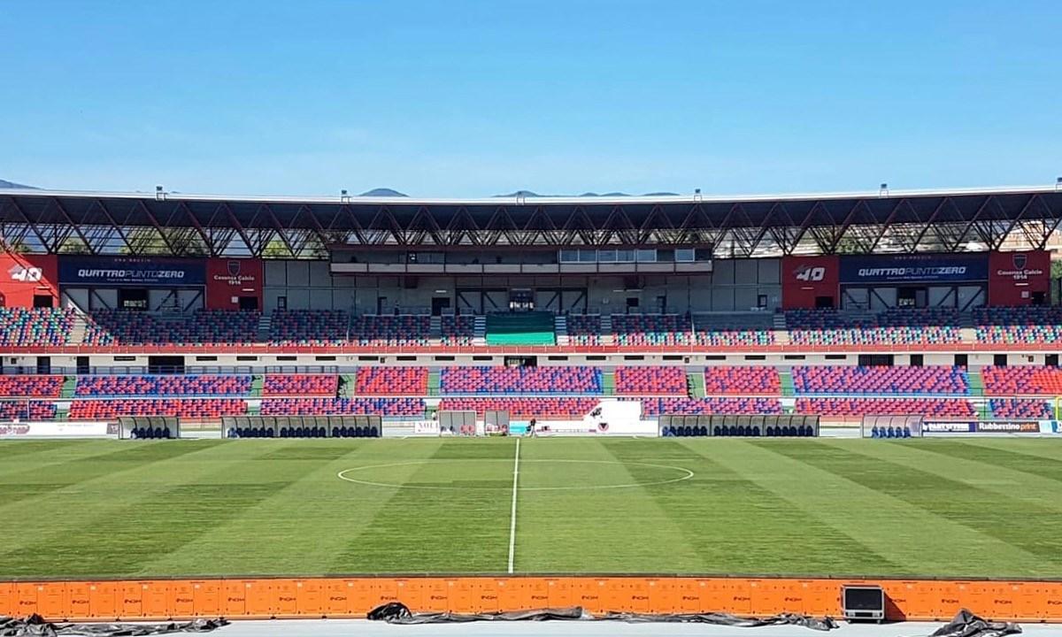 Lo stadio Marulla di Cosenza